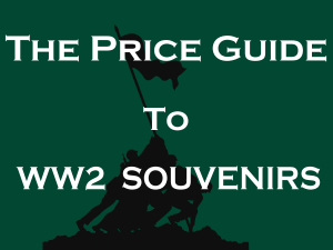 price guide ww2 souvenirs