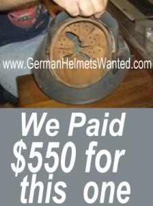 WW2 German air force helmet