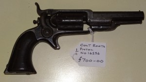 "Colt revolver ""Roots"" Serial Number 16236 Price £700 10/12/13"
