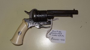 A gunfire revolver circa 1850 Belgium? having Ivory Grips .Price £600 10/12/13
