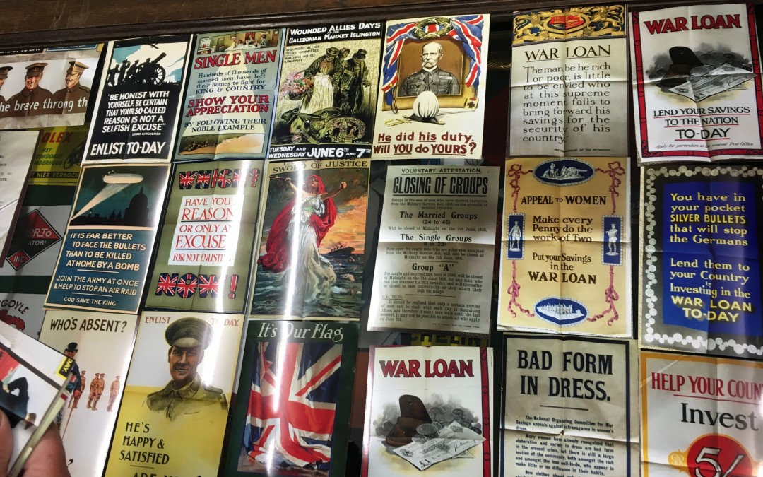 WW1 Recrutment Posters Sourced For The Combined Military Sevices Museum.
